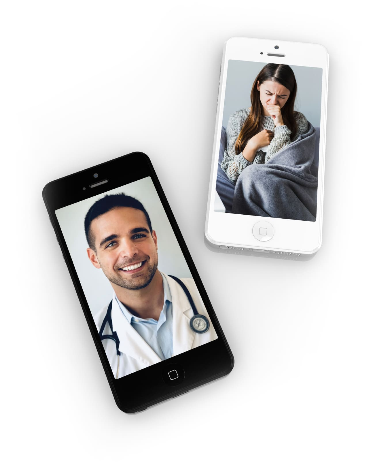 Dr. Efe Sahinoglu, M.D. consulting with a patient via telemedicine